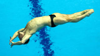 Jack Laugher of Great Britain competes in the Men's 3m Springboard Final on day seven of the Gwangju 2019 FINA World Championships at Nambu International Aquatics Centre on July 18, 2019 in Gwangju, South Korea. (Photo by Maddie Meyer/Getty Images)