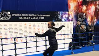 Alina Zagitova before practice