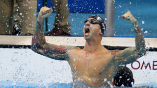 Ervin after winning 50m freestyle at Rio 2016