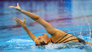 Ona Carbonell of Spain competes in the Solo Free Final on day six of the Gwangju 2019 FINA World Championships at Yeomju Gymnasium on July 17, 2019 in Gwangju, South Korea. (Photo by Clive Rose/Getty Images)
