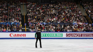 Nathan Chen on ice during his free skate