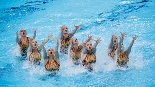 18th FINA World Swimming Championships - Women's Team Free Preliminary - Yeomju Gymnasium, Gwangju, South Korea - July 17, 2019. Team Russia competes. REUTERS/Kim Hong-Ji