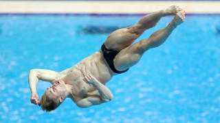 Jack Laugher of Great Britain competes in the Men's 3m Springboard preliminary round on day six of the Gwangju 2019 FINA World Championships at Nambu International Aquatics Centre on July 17, 2019 in Gwangju, South Korea. (Photo by Catherine Ivill/Getty Images)