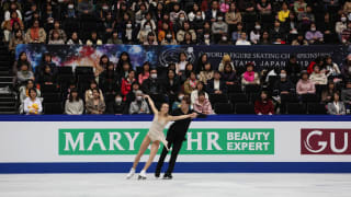 Victoria Sinitsina and Nikita Katsalapov on ice during their free dance