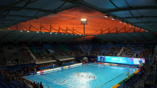 A general view during the Women's Water Polo Preliminary round match between Canada and South Korea at the Gwangju 2019 FINA World Championships at Nambu University on July 18, 2019 in Gwangju, South Korea. (Photo by Clive Rose/Getty Images)