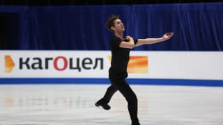 Jason Brown skates in Friday morning practice for the men's free skate