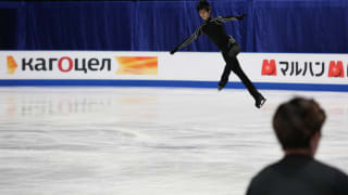 Yuzuru Hanyu in free skate practice in Saitama