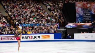 Alina Zagitova performs her gold medal free skate at the World Championships