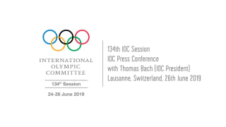 Press Conference with IOC President, Thomas Bach