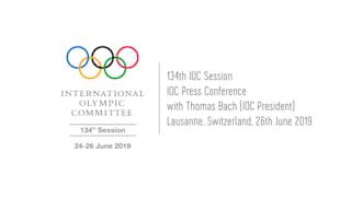 Conférence de Presse avec le Président du CIO, Thomas Bach