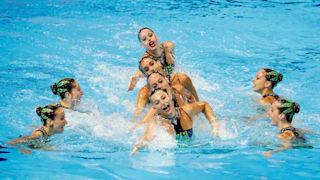 18th FINA World Swimming Championships - Women's Team Free Preliminary - Yeomju Gymnasium, Gwangju, South Korea - July 17, 2019. Team Spain competes. REUTERS/Kim Hong-Ji