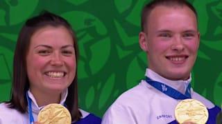 Mixed Teams 50m Pistole Finale | Schießen - Europaspiele - Minsk