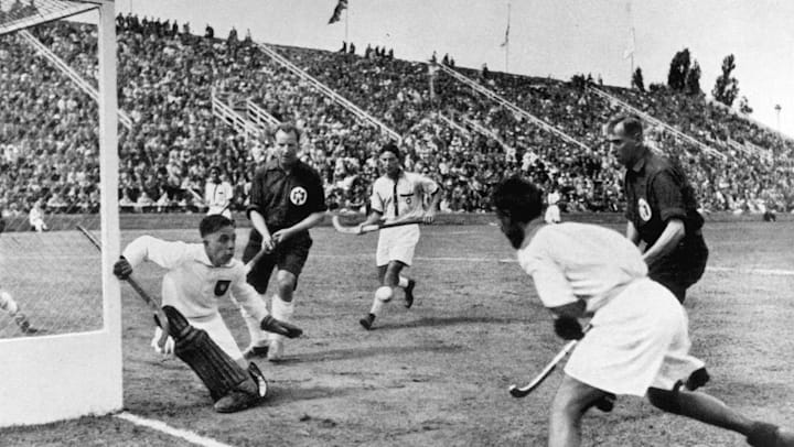 At the 1936 Olympics, hockey wizard Dhyan Chand led by example
