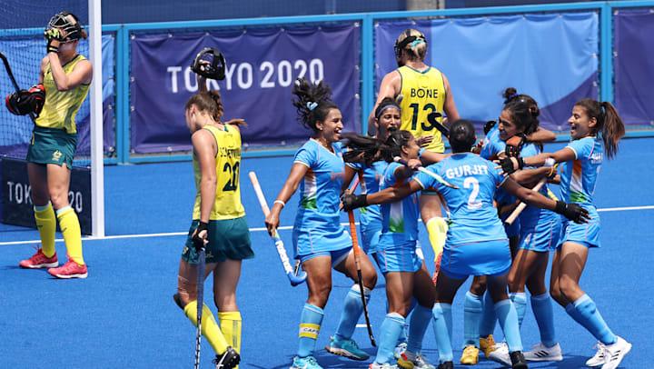 India women beat Australia to enter Tokyo Olympics hockey semi-finals