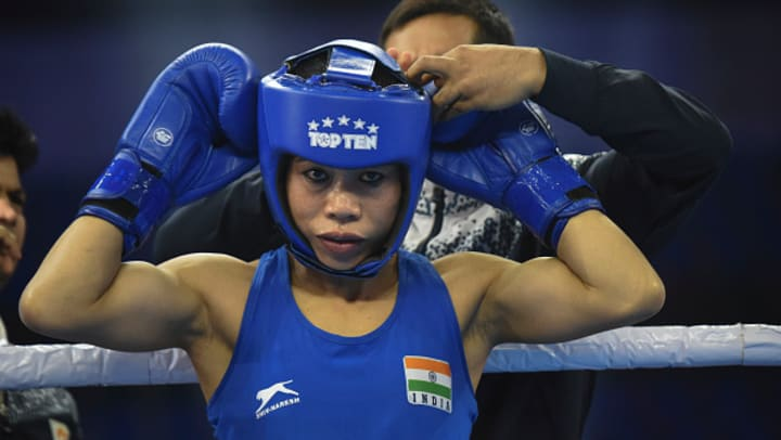 Indian boxing queen MC Mary Kom.