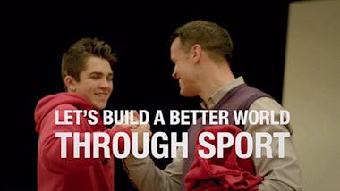 """""""Sport is a great conversation opener and human-experience opener that puts us eye to eye"""""""