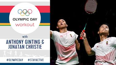 Тренировка в Олимпийский день | #StayActive с Гинтингом и Кристи