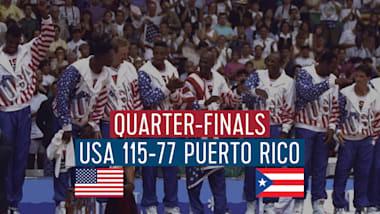"""США - Пуэрто-Рико (1/4 финала)   """"Дрим-тим"""" в Барселоне-92"""