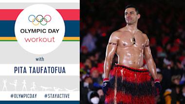 Тренировка в Олимпийский день | #StayActive с Питой Тауфатофуа