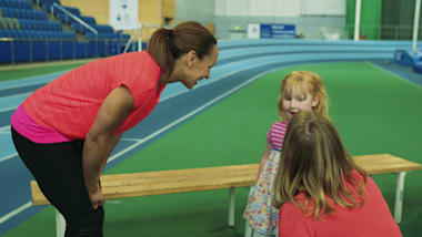 Jessica Ennis-Hill meets the Olympic baby named after her