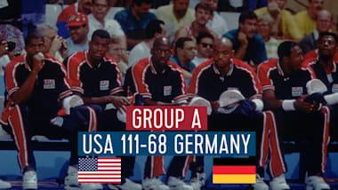 """США - Германия (группа А)   """"Дрим-тим"""" в Барселоне-92"""