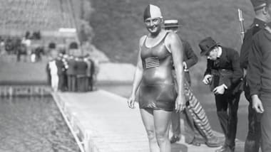 Ethelda Bleibtrey, the trailblazer for women's swimming who was arrested due to her swimsuit