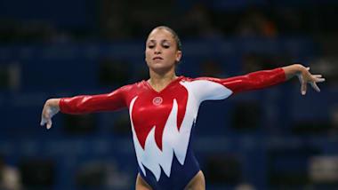 Mohini Bhardwaj of USA vaults during qualifying at the Athens 2004 Olympics