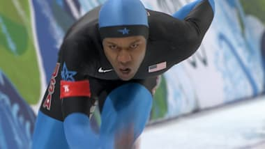 Shani Davis calls it quits: Relive his two Olympic gold medal races