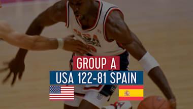 "США - Испания (группа А)   ""Дрим-тим"" в Барселоне-92"