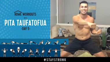 Тренировка с Питой Тауфатофуа на Olympic Channel - День 5