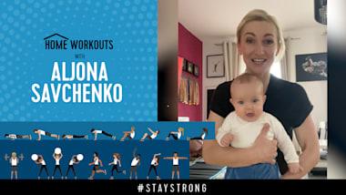 Домашние тренировки с Аленой Савченко - Тренируйся с ребенком