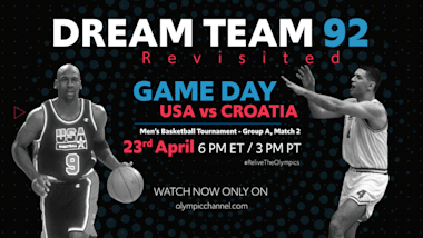 WATCH... Dream Team 1992 Revisited   USA vs Croatia