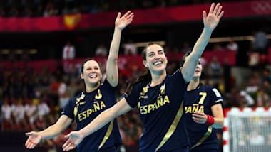 몬테네그로와의 준결승에서 득점을 성공시킨 스페인의 피네도
