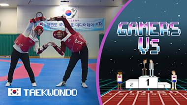 电竞选手Bigmin、Chany 双人对战跆拳道名将李大勋