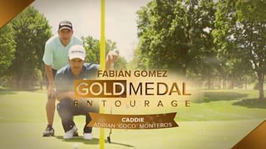 Extra: Argentinian golfer Fabian Gomez's entourage offers golf caddying tips