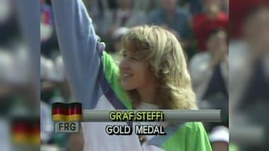 Штеффи Граф выигрывает золото в Сеуле