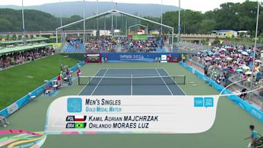 Майхжак (POL) - Лус (BRA) - теннис | ЮОИ-2014 в Нанкине