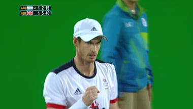 올림픽 테니스 타이틀을 지켜낸 영국의 머레이