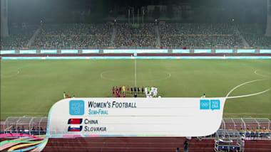 CHN x SVK - Futebol Feminino   YOG Nanjing 2014