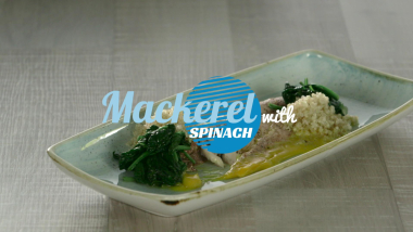 Mackerel with spinach