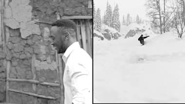 Droit au cœur: le rêve du snowboarder ougandais reste en vie