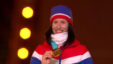 Marit Bjørgen diventa l'atleta più titolata alle Olimpiadi Invernali