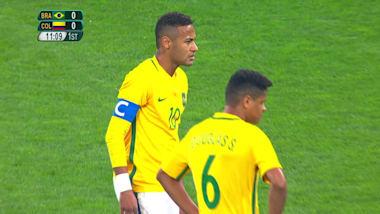 Neymar segna la sua prima rete a Rio 2016