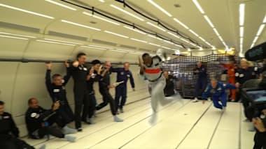 L'imbattibile Usain Bolt, anche di fronte alla microgravità
