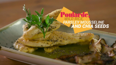 Poularde, Wild Rice, Parsley Mousseline and Chia seeds