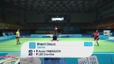 ياماغوشي ضد لي - الريشة الطائرة سيدات   YOG 2014