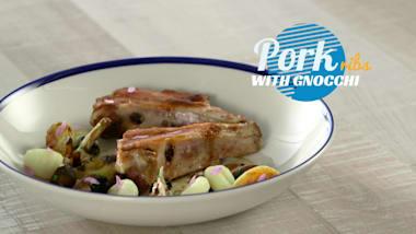 Pork ribs with gnocchi