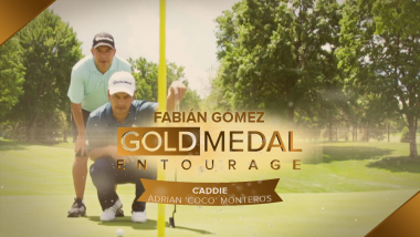 Quando o golfista conhece o caddie: Fabian Gomez e Coco Monteros em sintonia