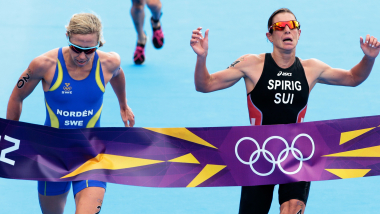 Photo Finish For Women's Triathlon in London 2012