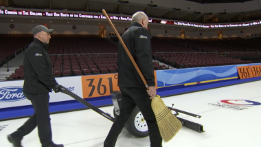 How do you make a curling rink?
